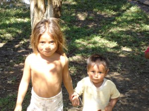 Two village children