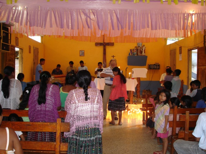Mass in village church