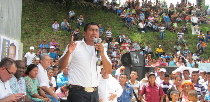 ) Luis at a campaign rally. By supporting voices of change, like Luis, you help to provide long term change to Guatemala. There are many good, dedicated Guatemalans desperate for change – but they need support and encouragement, in order to be successful.