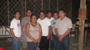 """Our leadership team in Guatemala. The group is an officially formed non profit corporation in Guatemala, named """"Asociacion y Centro Cultural Maya Q'eqchi'"""". Those pictured form the board of directors and are responsible for the management of our projects. From left to right: Macario, Miguel Angel, Olga, Francisco, Luis, Arnoldo, and Enrique."""