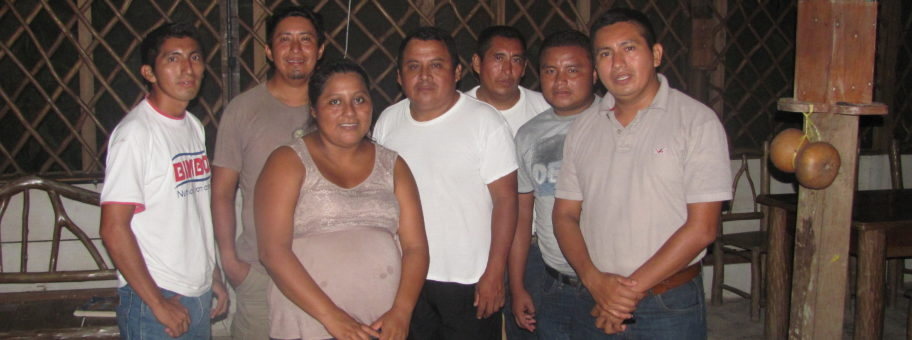"Our leadership team in Guatemala. The group is an officially formed non profit corporation in Guatemala, named ""Asociacion y Centro Cultural Maya Q'eqchi'"". Those pictured form the board of directors and are responsible for the management of our projects. From left to right: Macario, Miguel Angel, Olga, Francisco, Luis, Arnoldo, and Enrique."